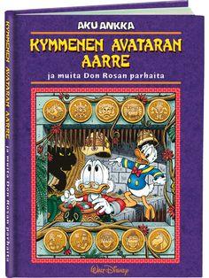 Kymmenen avataran aarre (Don Rosa) - Aku Ankan kauppa Don Rosa, Walt Disney, Avatar, Comic Books, Comics, Cover, Art, Art Background, Kunst
