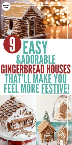 If you've been looking for some easy holiday gingerbread ideas then this post is for you! The best festive gingerbread house recipes with templates and decoration inspiration. There's even a no-bake log cabin and graham cracker gingerbread!