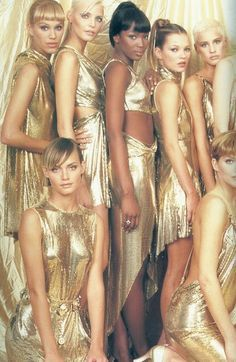 Gold Touch: 90's supermodels, Kate Moss, Naomi Campbell