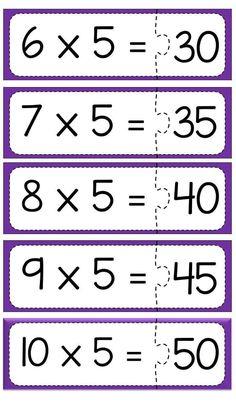 Multiplication puzzle for school Math Tables, Multiplication Games, Was Ist Pinterest, Math School, Math For Kids, Math Skills, Teaching Math, Math Centers, Math Activities