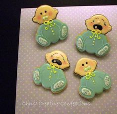 Baby Shower decorated sugar cookies happy by ChrisCreativeConfect, $42.00