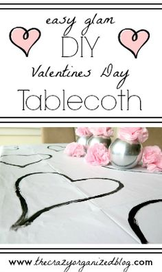 Such an easy and fun way to decorate for Valentines day .... and it's functional!