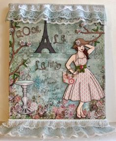 Paris inspired mixed media canvas which is up on my blog now with full details on the project featured!!  Make sure to stop by and check it out!! :) http://scrapbookscraftscards.blogspot.com/2015/02/oh-la-la-mixed-media-canvas.html
