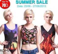 Romwe Summer Sale Up to 70% off! Hundreds of styles!  Time: 25/06/2013-27/06/2013 GO: http://www.romwe.com/manage_activity/Summer-Sale/?8blogger  #fashion #sale #Romwe