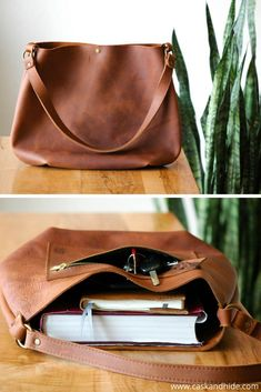 slouchy leather hobo bag - love the zipper on the front! Gorgeous!