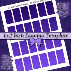 1x2 inch Rectangle Domino DIY DIGITAL Collage by JeweledLizard