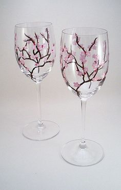 Image result for hand painted wine glasses