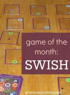 Swish card game teaches visual and spatial perception skills