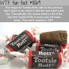 Tootsie Rolls facts - WTF fun fact