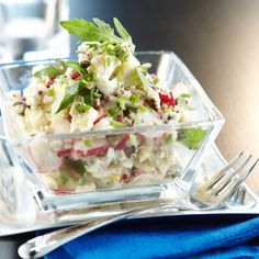 Salad Recipes, Vegan Recipes, Just Eat It, Love Food, Potato Salad, Side Dishes, Cabbage, Food And Drink, Yummy Food