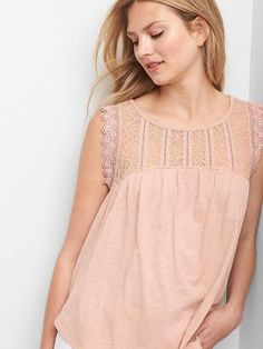 Gap Lace shirred tank xs