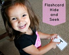 Flashcard Hide and Seek- To play this flashcard game, choose your flashcards. They could be numbers, shapes, words, and even sentences. Have the children go into the other room while you hide them. Preschool Curriculum, Preschool Games, Preschool Learning, Learning Games, Kid Games, Preschool Ideas, Kindergarten, Educational Activities, Activities For Kids