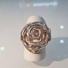 Collezione Rosa d'argento Anello di NeoArtigianatoGirau su Etsy