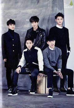EXO | Do Kyung Soo (d.o.), Kim Jong In ❤  (kai), Huang Zitao  (tao), Zhang Yixing  (lay) & Kim Min Seok  (xuimin) | EXO 2015 Season's Greetings [scans] | Chinese Version | Facebook