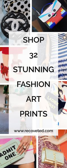 Shop our exclusive collection of fashion art prints and take your sense of style beyond your wardrobe and onto the walls! #fashionart