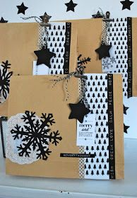 With tissue paper snowflake tutorial and link to free printables. From mamas kram. Christmas Mood, Christmas Crafts, Christmas Decorations, Paper Snowflake Designs, Snowflake Pattern, How To Make Snowflakes, Christmas Gift Wrapping, Merry And Bright, Little Gifts