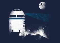 """Shine R2-DR  """"Droid Lighthouse"""" by Red Rafael"""