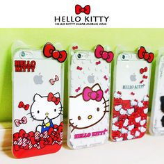 Authentic Hello Kitty Clear Case iPhone 6 Case iPhone 6 Plus Case 5 Types Jelly #HelloKitty