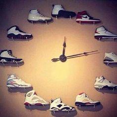 Cool clock using Jordan shoes (via @Michelle Saraniti, @Angela Scott)