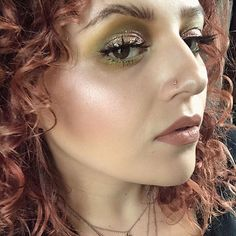 Happy Easter loves!  Here's some eye candy  to celebrate!   I just wanna frolic &live in April's shadow!!   Pro Artist April @kill_pril  #RP She artfully styles her brows with #MAC brow fluidlines &Deep damson eye shadow to compliment the rich tones of her hair  Amazing eye combo: Back in the Swing #creamcolourbase Spring  #trendforecast palette sour lemon soba &green smoke from #mellowmoderns palette in the crease.  Trophy #bigbounceshadow #allthatglitters on the lid. Color Matters…