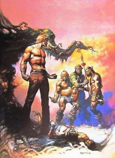 The Mongol Warriors / 1977 (Boris Vallejo)