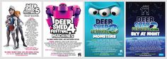 Check out these cool past line up festival posters of Deer Shed Festival!