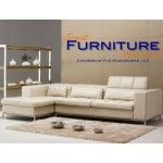 $1,889.00 TOSH Furniture - Beige Leather Sectional Sofa - TOS-FY635