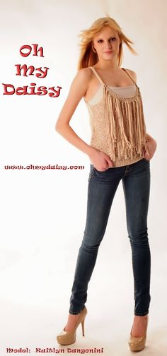 Crochet Top-$42.50    Same top as I pinned earlier, but this model wears it with a tank underneath.