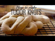 Sweetie Darling's Bake Off Make Off Week 8 showcases Tudor Knots in theme with Tudor Week on GBBO. A simple recipe that works well! Uk Recipes, Bread Recipes, Dessert Recipes, Cooking Recipes, Desserts, Jumble Recipe, Tudor Recipe, Skyrim Food, Kids Meals