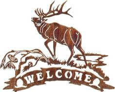 elk rod iron wall decor | view more metal wall art welcome signs metal wall art