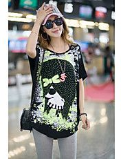 Women's Plus Size Skull Print Lace Splicing C... – USD $ 22.19