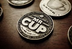 Mr Cup letterpress business card
