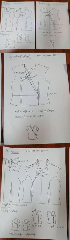 313 Best myanmar dress pattern images in 2020   Dress pattern ...