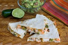 Shrimp and Jalapeno Quesadilla | Amazing grilled shrimp and jalapeño quesadilla recipe, courtesy of my pal Steve who blogs at The Black Peppercorn.