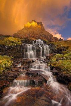 Dawn Waterfall  Clements Mountain  Montana