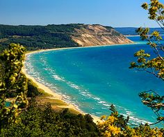 So happy visited last summer! Sleeping Bear Dunes - named the most beautiful place in America (I personally don't think it's even the most beautiful place in Michigan, but it is still gorgeous) it's pretty far up on the list of places to see. Beautiful Places In America, Beautiful Places To Travel, Cool Places To Visit, Places To Go, Romantic Travel, Northport Michigan, Frankenmuth Michigan, Michigan Vacations, Michigan Travel