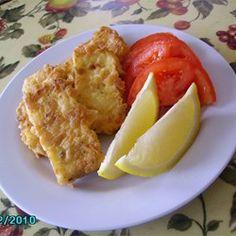 Greek Saganaki Recipe.  Deep fried feta!