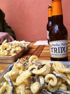 Fritto misto di calamari e acciughe & birra Maltus Faber !
