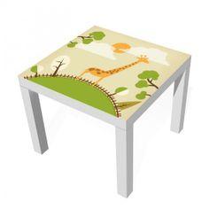 """Darüber freuen sich auch große Kinder: Das Design """"Mountain Giraffe"""" #Design #Designfolie #Lack #Tisch #IKEA #Kinder"""