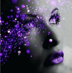 Things I Love About: Beautiful Colors The Purple, Purple Rain, Purple Stuff, All Things Purple, Shades Of Purple, Purple Sparkle, Color Splash, Color Pop, Splash Art