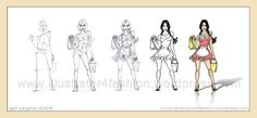 costume-soubrette Artist, Fashion, Sketching, Sketch, Fashion Styles, Drawings, Hairstyle, Moda, Artists