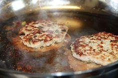 pan frying ground chicken burgers