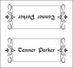 Elegant place card template- website also has free