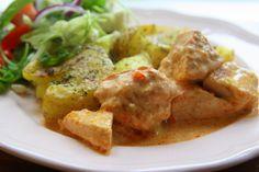 Kraschade potatisar med kyckling i krämig sås - Jennys matblogg