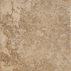 "Del Conca 12"" x 12"" Roman Stone Noce Thru Body Porcelain Floor Tile  -Lowes for the floor"