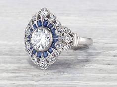 Antique Engagement Rings, Antique Rings, Antique Jewelry, Vintage Jewelry, Ring Engagement, Vintage Rings, Silver Jewelry, Art Deco Ring, Art Deco Jewelry