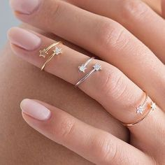 Tiny Star Ring Set. Discover thoughtful, personal and wonderfully unique jewellery gifts for her this Christmas