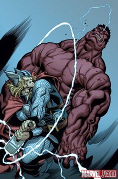 Thor vs Red Hulk by Ed McGuinness