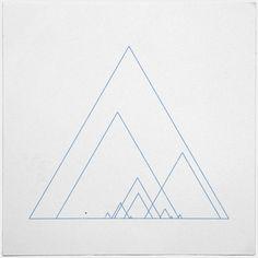 Grand ridge – A new minimal geometric composition each day // Geometry Daily Ok Design, Design Art, Geometric Wall, Geometric Shapes, Geometric Drawing, Triangles, Grafik Design, Mandala Design, Sacred Geometry