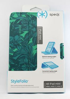 speck stylefolio leather folio cover case #ipad mini 1 2 3 floral teal/green b45 from $12.3